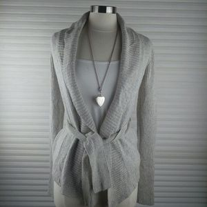 Abercrombie Gray Open Knitted Cardigan Sz XL